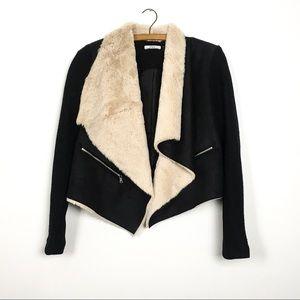 DEX Faux Suede Blazer Coat